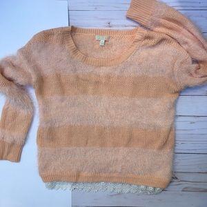 GB Eyelash Knit Sweater Orange Color SZ XS